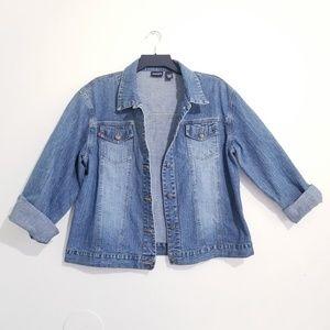 Chico's vintage denim jacket